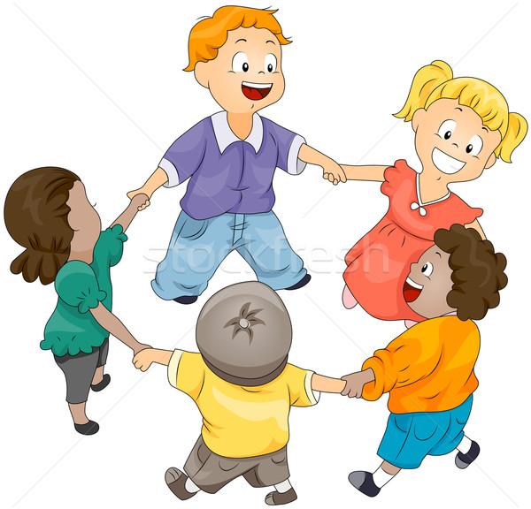 Kinderkreis clipart  Kinder · Kreis · Kinder · jungen · Jungen - vektor-grafiken © lenm ...