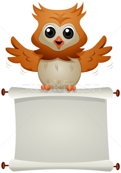 Message Owl Stock photo © lenm