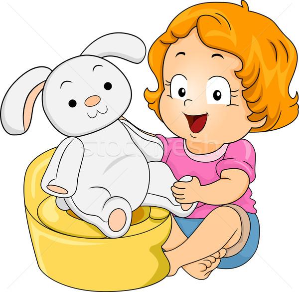 Bunny Potty Training Stock photo © lenm