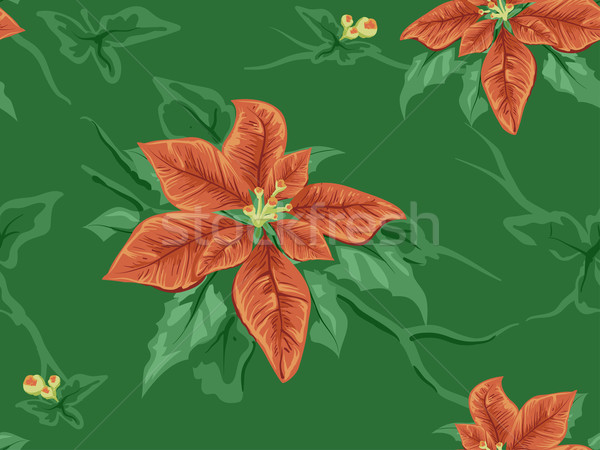 Poinsettia Seamless Background Stock photo © lenm