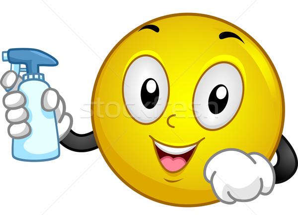洗浄 スマイリー 実例 スプレー ボトル ストックフォト © lenm