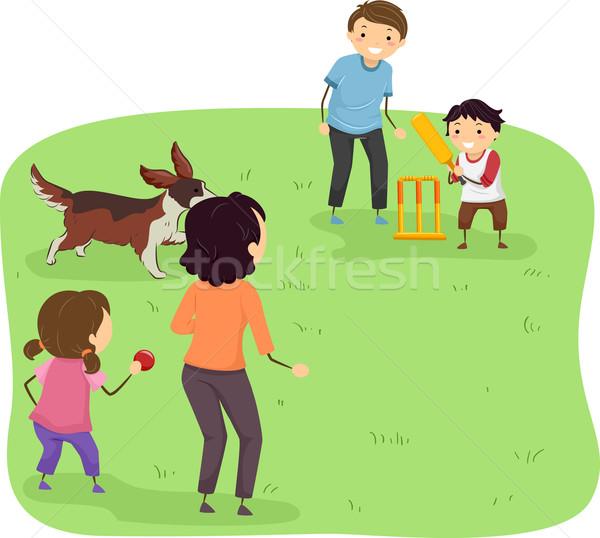Family Cricket Stock photo © lenm