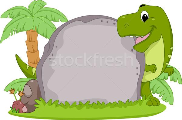 T-Rex Stone Frame Stock photo © lenm
