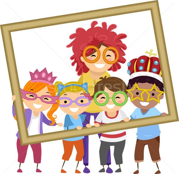 Gyerekek tanár diákok fotó illusztráció elvesz Stock fotó © lenm