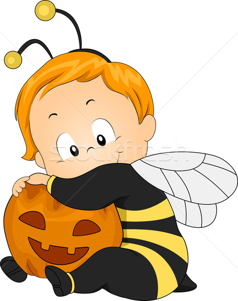 Honingbij baby illustratie kind kid bee Stockfoto © lenm