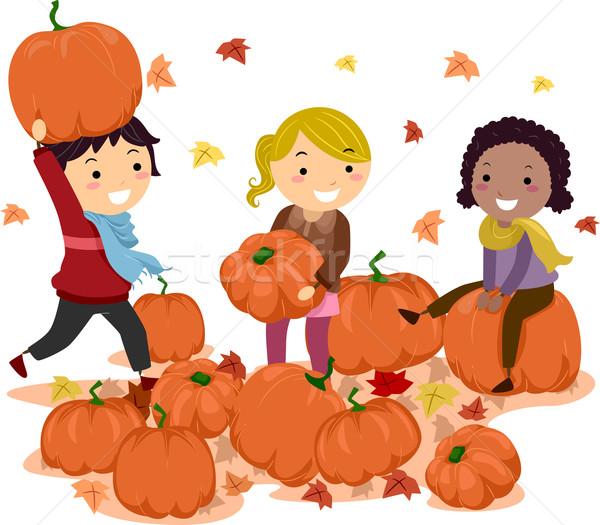 Stickman Pumpkins Stock photo © lenm