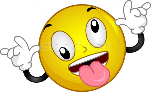 Goofy Smiley Stock photo © lenm