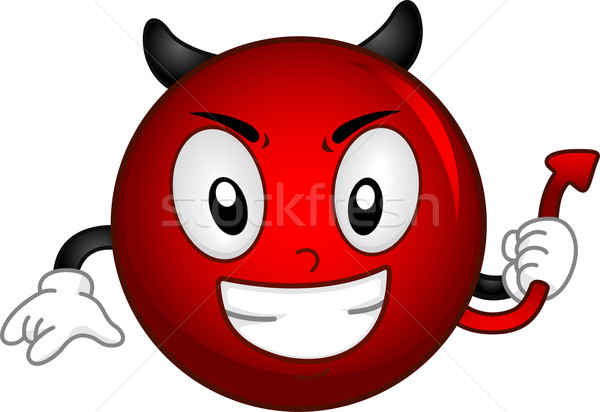 Evil Smiley Stock photo © lenm