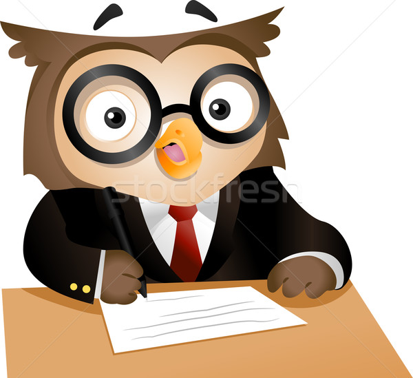 Writing Owl Stock photo © lenm