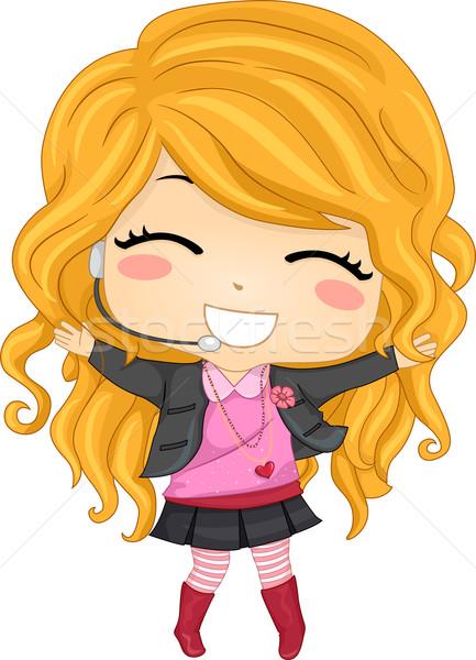 Nina pop estrellas ilustración nina Foto stock © lenm