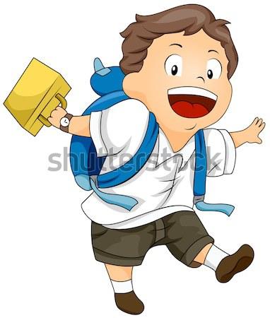 Awaryjne gotowy ilustracja człowiek Zdjęcia stock © lenm