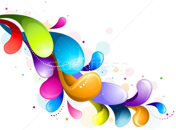 Arco iris resumen diseno blanco fondo Foto stock © lenm