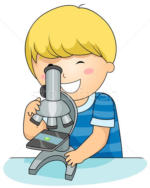 Microscope Kid Stock photo © lenm