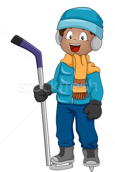 Ice Hockey Boy Stock photo © lenm