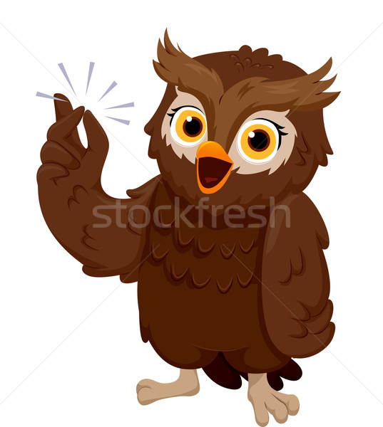 Owl Finger Snap Stock photo © lenm