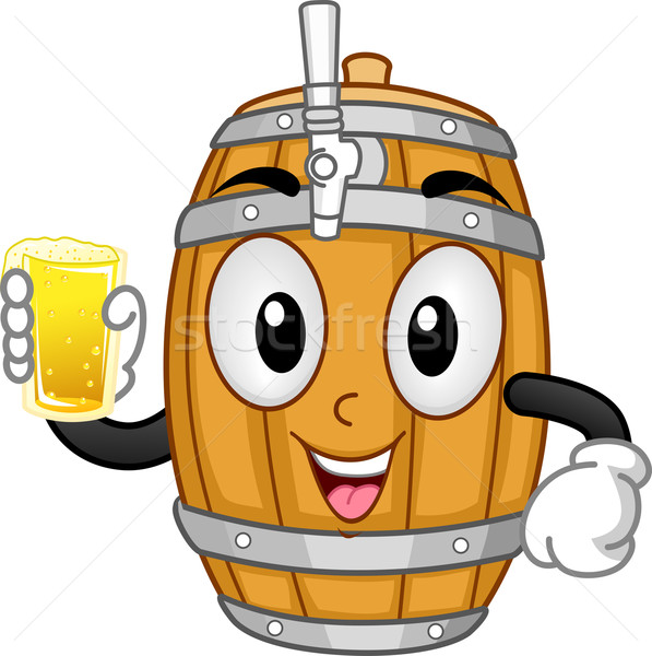 Kabala sör illusztráció tart üveg alkohol Stock fotó © lenm