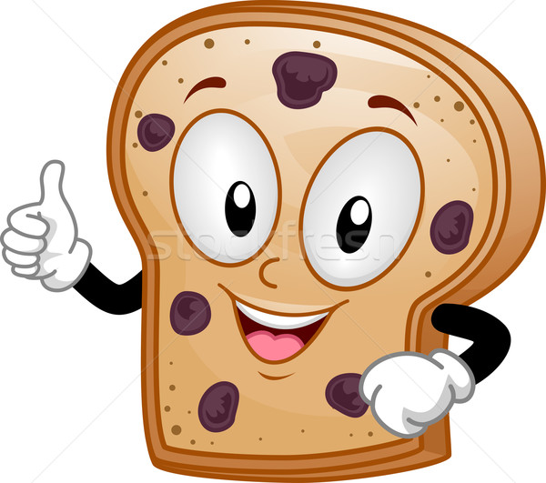 Mascot Raisin Bread Stock photo © lenm
