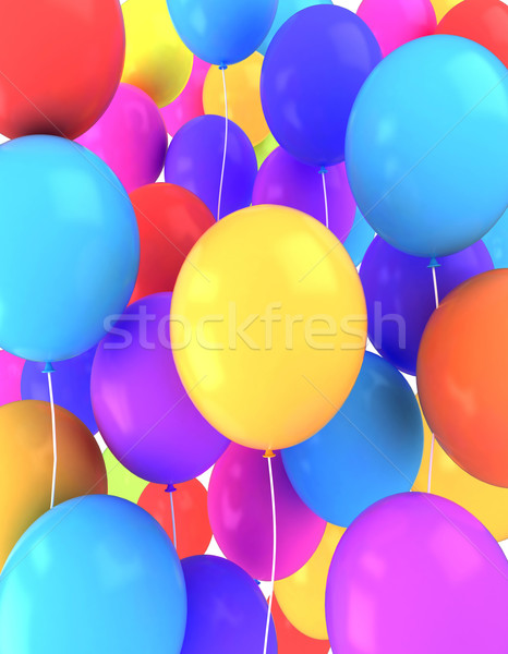 Ballons 3d illustration coloré anniversaire célébration 3D Photo stock © lenm