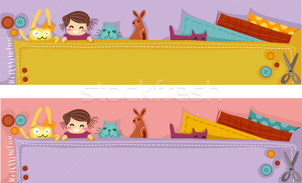Plush Craft Header Stock photo © lenm