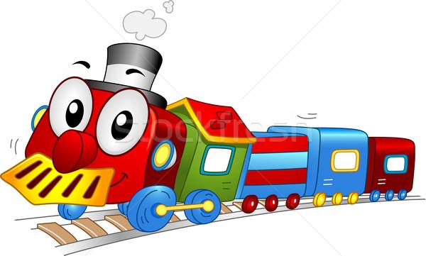 Stock fotó: Játék · vonat · kabala · illusztráció · utazás · vektor