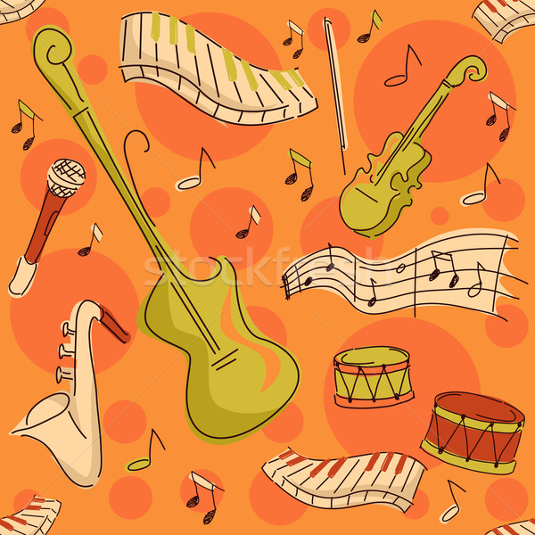 Musical Instruments Background Stock photo © lenm