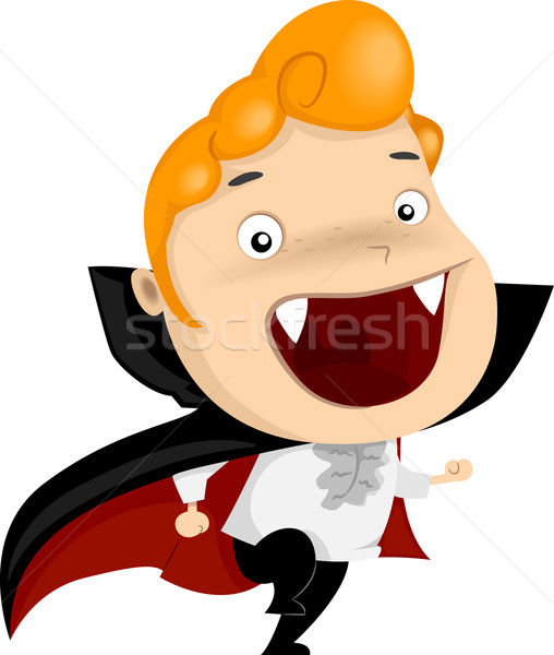 Vampir Halloween Illustration Kind Urlaub Stock foto © lenm