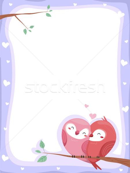 Birds in Love Background Stock photo © lenm