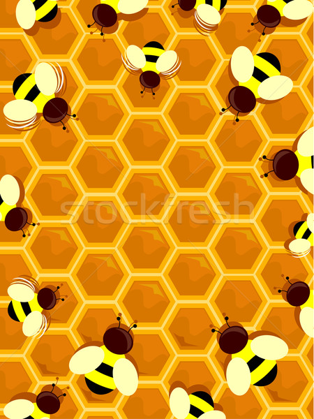 Beehive Frame Stock photo © lenm