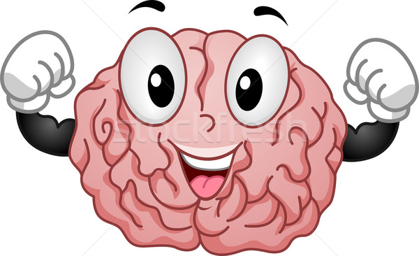 Strong Brain Mascot Stock photo © lenm