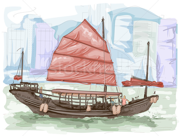 Hongkong Boat Stock photo © lenm