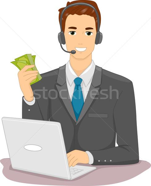 Online Job Money Stock photo © lenm
