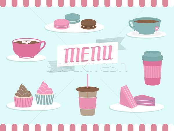 Menu Coffee Shop Elements Stock photo © lenm