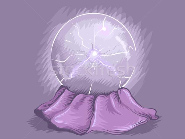Osoczu piłka ilustracja elektryczne sztuki elektrycznej Zdjęcia stock © lenm
