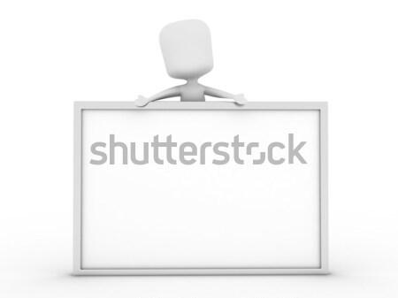 Man Presenting a White Board Stock photo © lenm