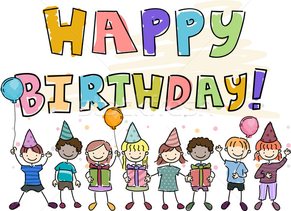 Birthday Doodle Stock photo © lenm