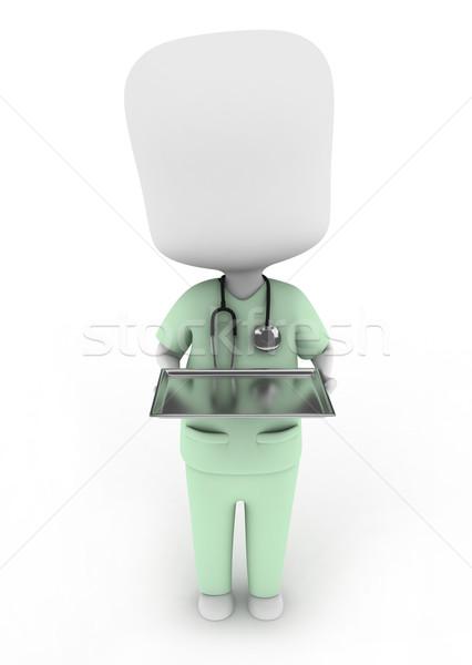 Medicine Tray Stock photo © lenm