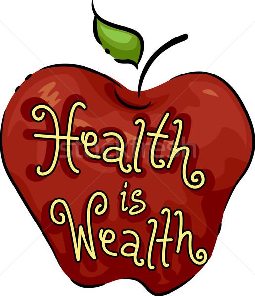 Gesundheit Reichtum Symbol Illustration Obst Website Stock foto © lenm