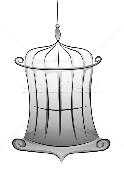 Black and White Cage Stock photo © lenm