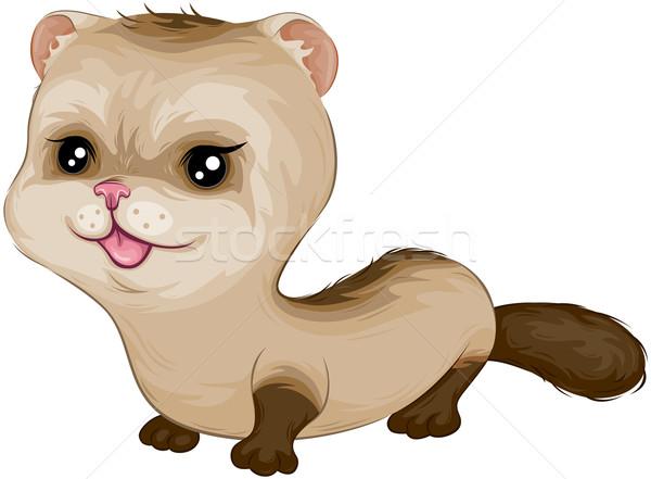 Stockfoto: Baby · fret · cartoon · cute · illustratie