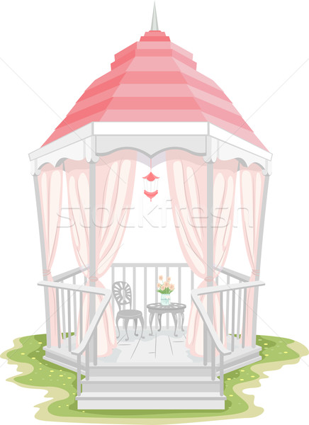 Shabby Chic Gazebo Stock photo © lenm