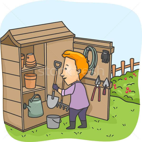 Garden Tool Shed Stock photo © lenm