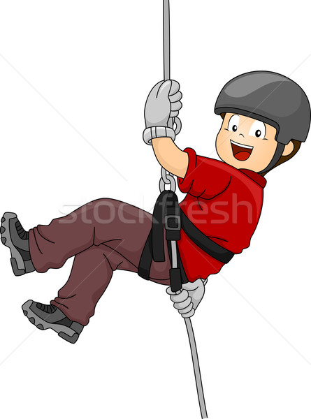 Rappelling Boy Stock photo © lenm