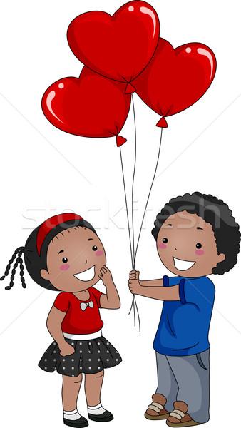 Valentine Balloon Stock photo © lenm