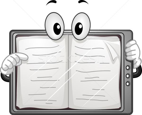 Ekönyv olvasó kabala oldalak illusztráció könyv Stock fotó © lenm