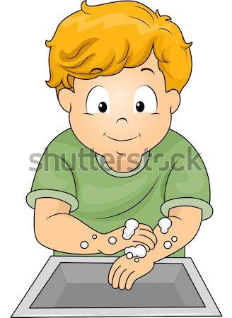 Zin illustratie kid student jongen jonge Stockfoto © lenm