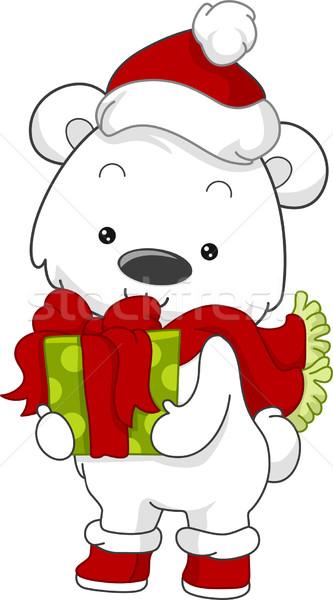 Polar Bear Gift Stock photo © lenm