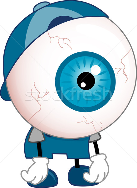 Tired Eyeball Mascot  Stock photo © lenm