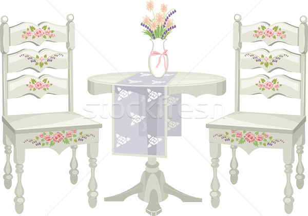 Shabby Chic Furniture Stock photo © lenm