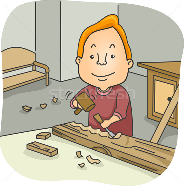 Wood Carver Stock photo © lenm