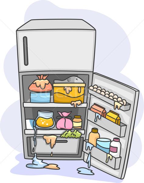 Dağınık buzdolabı örnek tüm stok buzdolabı Stok fotoğraf © lenm